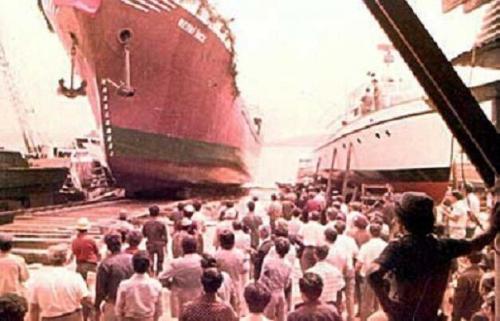 Beykoz Tersanesi Bedri İnce gemisi suya iniş