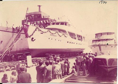 Beykoz Tersanesi Aspendos gemisi suya iniş